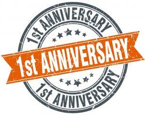 One-year-anniversary